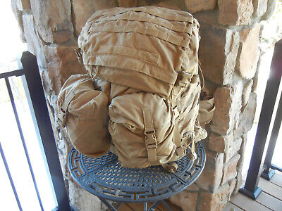 USMC FILBE Main Pack Backpack with Sustainment pouches, Coyote Brown / Tan