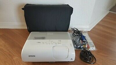 Epson PowerLite 77C LCD Projector 2200 ANSI HD 1080i HDMI-adapter w//Accessories