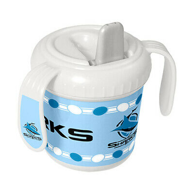 Nrl Cronulla Sharks 250Ml Kids Baby Training Sipper Cup