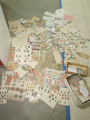 Vtg 2800+ 1930's Stamp Collection U.S. Foreign Mounted Used Stamped Envelopes