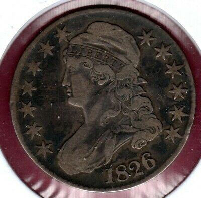 1826 Capped Bust Half Dollar Grades Fine Nice Looker Here..#C2552