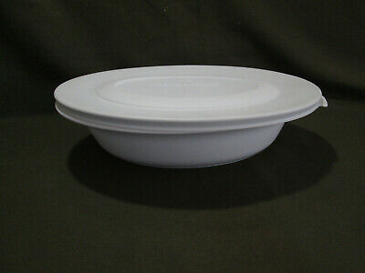 Corning Ware Serving Bowl Casual Elegance Floral Oval White L-31 , W/Plastic lid
