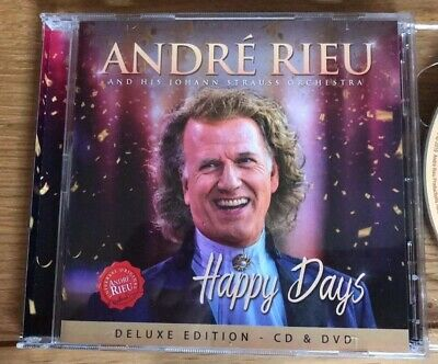 Andre Rieu - Happy Days CD & DVD (Deluxe Edition) Very Good Condition