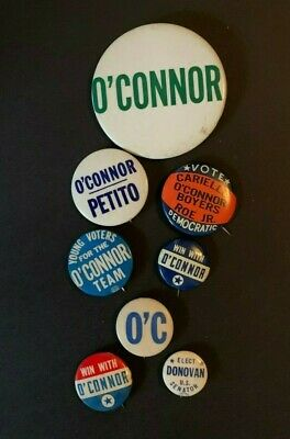 Lot 8 Frank O'connor New York Ny Queens Hitchcock Movie Lawyer Donovan Button