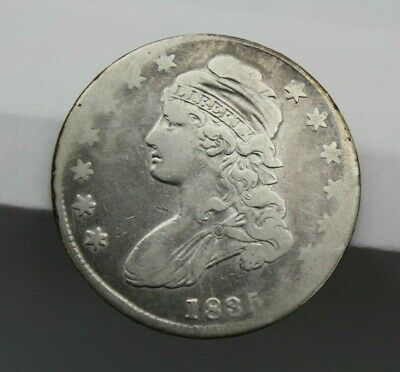 1835 Capped Bust Half Dollar Lettered Edge Ag/G