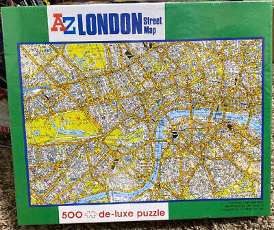 Sealed A-Z London Street Map 500 piece de-luxe jigsaw puzzle Brand New Cool!!!!!
