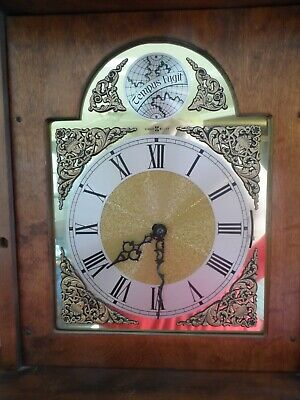Vintage Howard Miller Grandfather Clock Movement  Face Guts Weights
