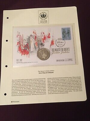 The Queen's Golden Jubilee Coin First Day cover 2002  Isle of Man & Falklands