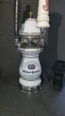 German Ceramic beer tower  Hacker Pschorr dual faucet tower. Mancave homebrew