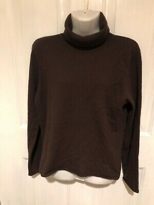 Charter Club Womens Sweater 2 ply Cashmere Turtleneck Brown size S