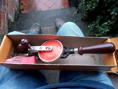 Vintage Boxed Stanley Hand Drill 803