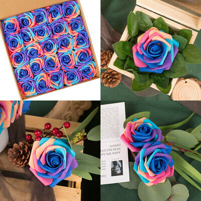N&T NIETING Artificial Flowers Roses, 25pcs Real Touch Unicorn Foam Series B