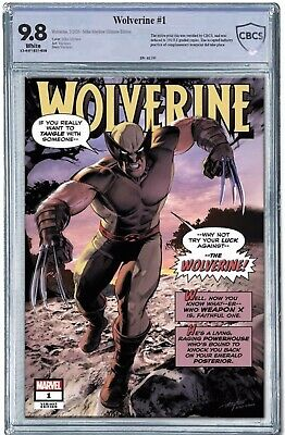 Wolverine #1 CBCS 9.8 Marvel 2020.  Mike Mayhew Cover PRE-ORDER LIMITED TO 180