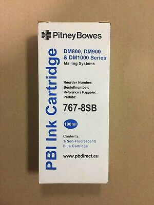 Pitney Bowes 767- 8SB (Non-Fluorescent) Blue Ink Cartridge