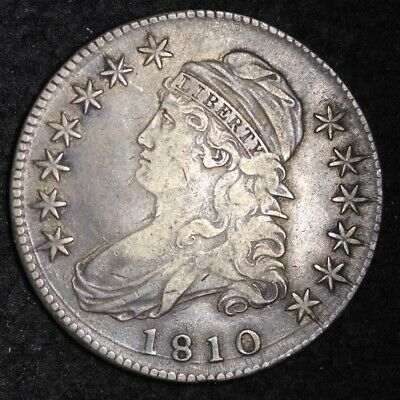 1810 Capped Bust Half Dollar CHOICE VF FREE SHIPPING E332 ACET