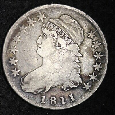 1811 Capped Bust Half Dollar CHOICE FINE FREE SHIPPING E333 KBM