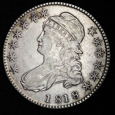 1818 Capped Bust Half Dollar CHOICE VF FREE SHIPPING E341 ACTX