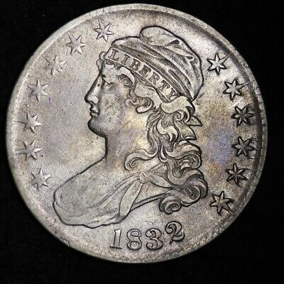 1832 Capped Bust Half Dollar CHOICE XF FREE SHIPPING E351 RBM
