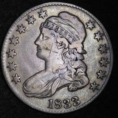 1833 Capped Bust Half Dollar CHOICE VF+/XF FREE SHIPPING E352 RHM