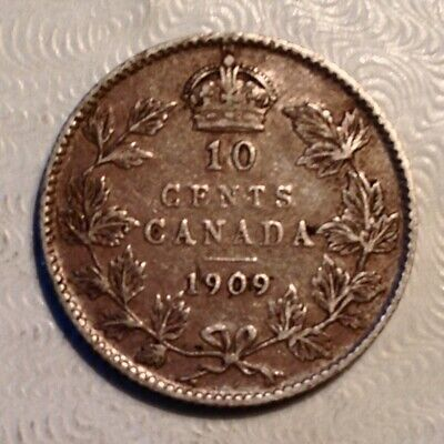 1909 Canada  Edward VII Ten 10 Cents - Broad Leaves