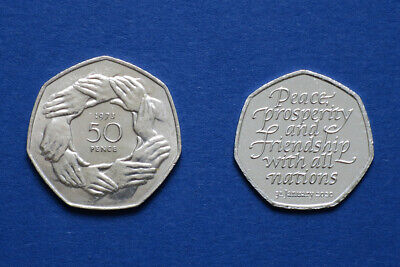 1973 EEC Entry + 2020 Withdrawal from European Union - 2 x 50p Brexit Coin Set