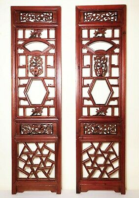 Antique Chinese Screen Panels (2980)(Pair); Cunninghamia Wood, Circa 1800-1849