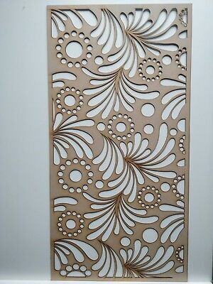 Radiator Cabinet Decorative Screening Perforated 3mm & 6mm thick MDF lasercutKO1