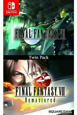 Final Fantasy VII 7 & Final Fantasy VIII Remastered Twin Pack Switch NEW SEALED