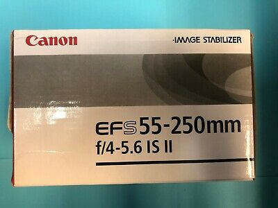 Canon EF-S 55-250mm f/4.0-5.6 II IS Lens (Filter Ring Damaged) And Neoprene Bag.