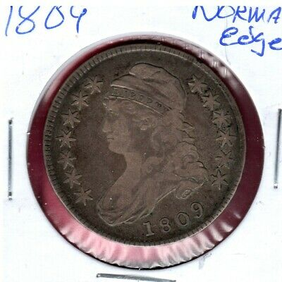 1809 Normal Edge Silver Capped Bust Half Dollar... Early Date #C2245