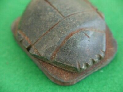 UNUSUAL Egyptian Ancient HARD Stone Antique Carved SCARAB Beetle PAPER WEIGHT ?