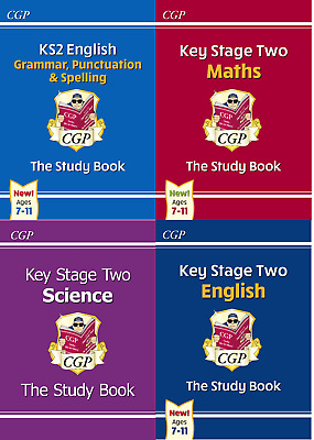 New CGP KS2 Study Book Collection 4 Book Set Pack for the 2020 Curriculum