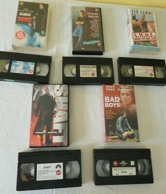 Job lot bundle VHS Video cassette films, Action thriller. AWOL. Badboys 18 cert.