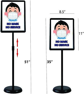 "8.5""x11"",Outdoor Adjustable Sign Stand Advertising Support Board Poster Holder"