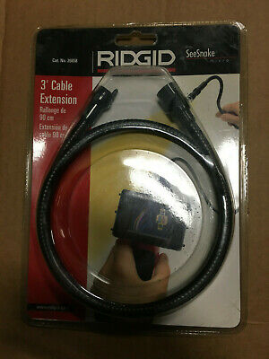 Rigid 3' Cable Extension for SeeSnake Micro Cat No. 26658 3 Foot NEW IN PACKAGE