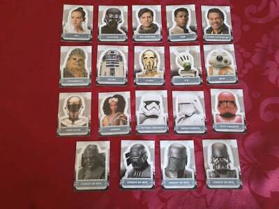 Topps Star Wars The Rise Of Skywalker Character Sticker Cards Europe/Uk Version