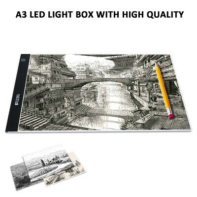A3 LED Adjustable Light Box Copy Drawing Artist Tracing Board Pad Dimmable US M