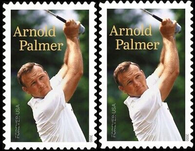 2020 US Stamp - Arnold Palmer - Pair - SC# 5455