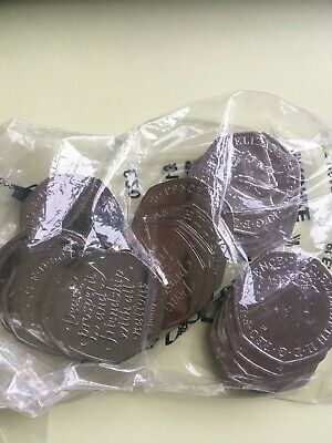 Bag of 20 brand new Brexit 50p coinsin hand