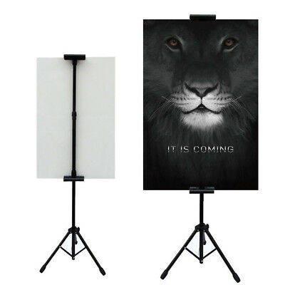 Double-Sided Tripod Poster Stand, Heavy Duty Sign Stand, Adjustable Floor Stand