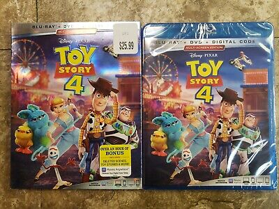 Toy Story 4 (Blu-ray, DVD, Digital, w/Slipcover, 2019) NEW
