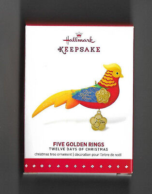 2015 Hallmark,FIVE GOLDEN RINGS,12 Days of Christmas,PHEASANT,#5 in Series