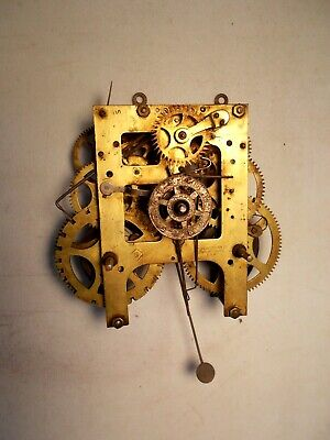 Antique Wml Gilbert Kitchen Clock Movement Parts Repair 1906