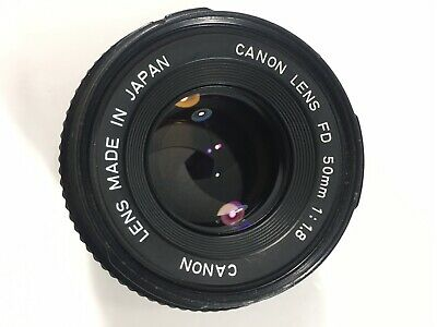 Canon New FD NFD 50mm f/1.8 MF Lens excellent condition