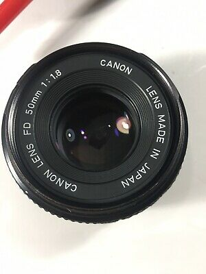 ] Canon New FD NFD 50mm f/1.8 MF Lens excellent condition