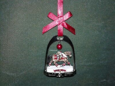 Breyer 2011 Christmas Stirrup Ornament With Box ---  Nib