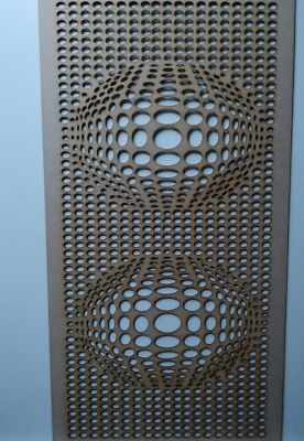 Radiator Cabinet Decorative Screening Perforated 3mm & 6mm thick MDF lasercut3D2