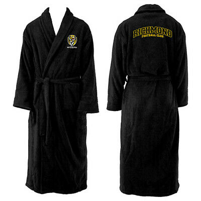 Afl Richmond Tigers Mens Long Sleeve Robe Dressing Gown