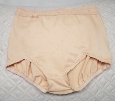 Olga Beige Panty Girdle W/Lace Trim and Bow at Waist. Size XL