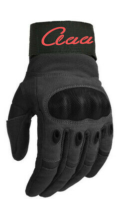 Motorbike All Weather Leather Gloves With Carbon Fiber Knuckle Motorcycle